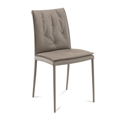 Diva Upholstered Dining Chair (Set of 2) Upholstery Color: Taupe