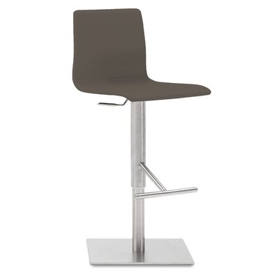 Jude Adjustable Height Swivel Bar Stool Upholstered: Taupe