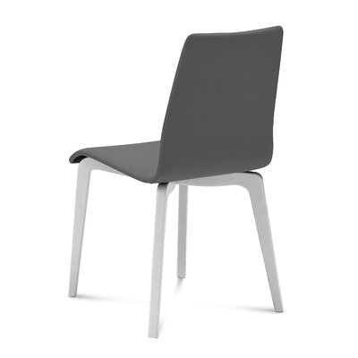 Jude Upholstered Dining Chair (Set of 2) Upholstery Color: Gray, Leg Color: White