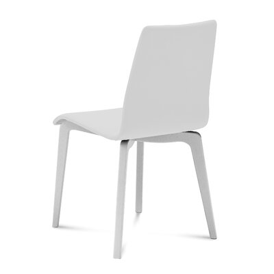Jude Upholstered Dining Chair (Set of 2) Upholstery Color: White, Leg Color: White
