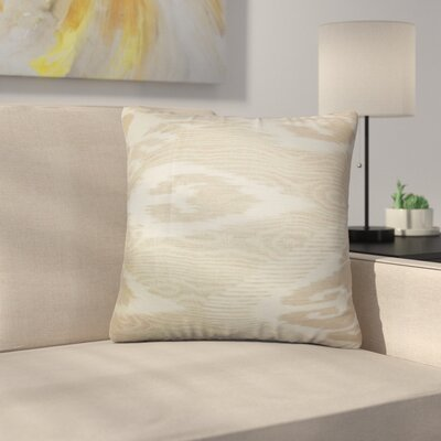 Platz Ikat Linen Throw Pillow Color: Tan