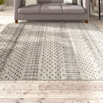 Ernest Dark Gray/Light Gray Area Rug Rug Size: Rectangle 5 x 76