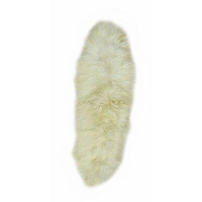 Jelks Icelandic Sheepskin Ivory Area Rug