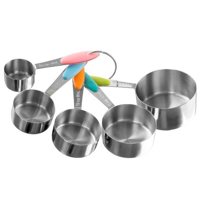 5-Piece Stainless Steel Measuring Cup Set M030237