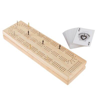 Wood Cribbage Board Game Set M350066