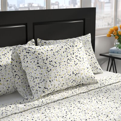 Ascalon Daisy 400 Thread Count 100% Cotton Sheet Set Size: Full