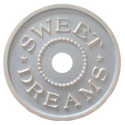 Sweet Dreams Ceiling Medallion Color: Pale Powder Blue