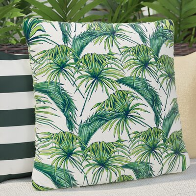 Palmtastic Abstract Outdoor Throw Pillow Size: 18 H x 18 W x 5 D, Color: Green
