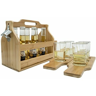 Van Reipen Opener Bamboo Floor Wine Bottle Rack (Set of 12)