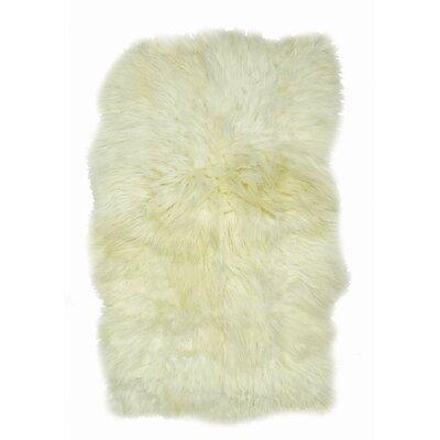 Larson Icelandic Sheepskin Ivory Area Rug