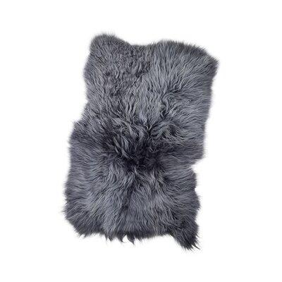 Horton Icelandic Sheepskin Gray Area Rug