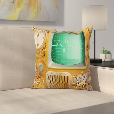 Industrial Grunge Square Pillow Cover Size: 16 x 16