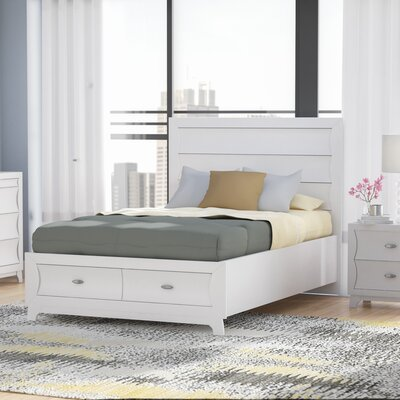 Bishopville Storage Platform Bed Size: King, Color: White