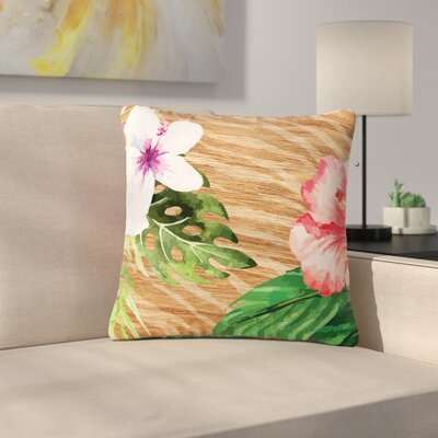 NL designs Vintage Tropical Jungle Floral Outdoor Throw Pillow Size: 18 H x 18 W x 5 D