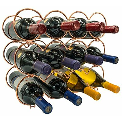 Kinch Detachable Round 12 Bottle Tabletop Wine Rack (Set of 12) Color: Copper
