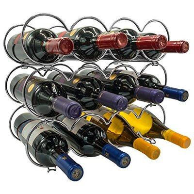 Kinch Detachable Round 12 Bottle Tabletop Wine Rack (Set of 12) Color: Silver