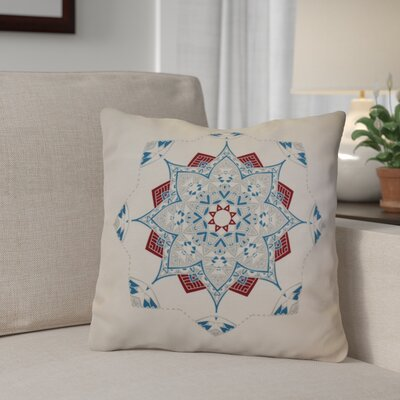 Aneesh Outdoor Throw Pillow Size: 16 H x 16 W, Color: Teal/Red