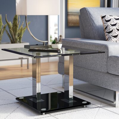 Gretchen Glass Top End Table