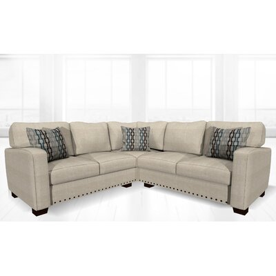 Costa Mesa Stationary Sectional Upholstery: Wheat Cotton