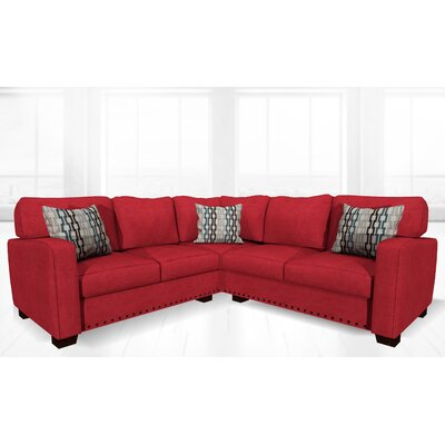Costa Mesa Stationary Sectional Upholstery: Lipstick