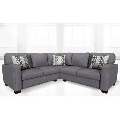 Costa Mesa Stationary Sectional Upholstery: Smoke