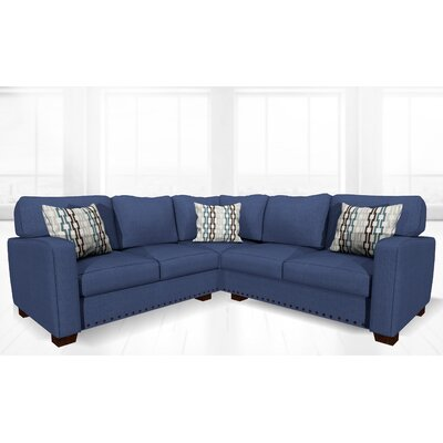 Costa Mesa Stationary Sectional Upholstery: Deep Ocean