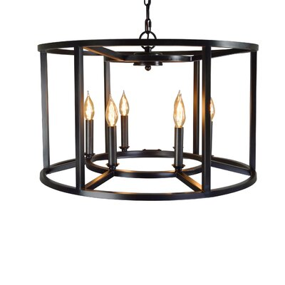 Maciejewski Cage Style 6-Light Candle-Style Chandelier