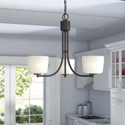 Rosalin 3-Light Shaded Chandelier Finish: Aged Bronze Brushed