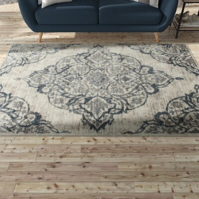 Erondelle White/Sterling Gray Area Rug Rug Size: 710 x 910