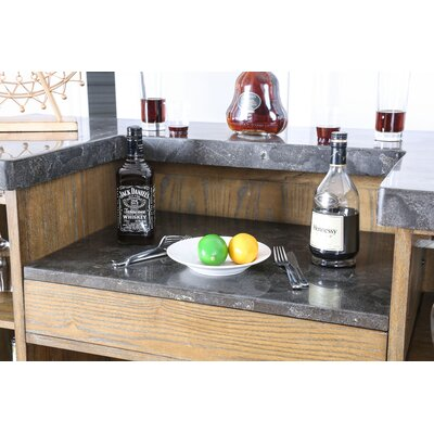 Pennsport Transitional Bar Table Top with Wine Storage