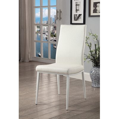 Juhl Upholstered Dining Chair Upholstery: White, Leg Color: White