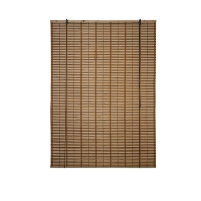 Midollino Wooden Semi-Sheer Brown Roll-Up Shade Blind Size: 49W x 64L