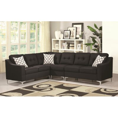 Bairdstown Tufted Sectional Upholstery: Black