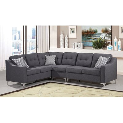 Bairdstown Tufted Sectional Upholstery: Gray