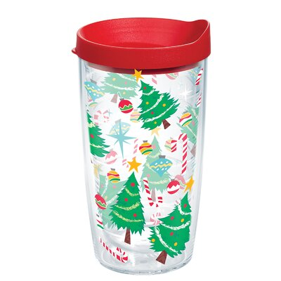Christmas Tree Candy Cane 16 oz. Plastic Travel Tumbler 1204069