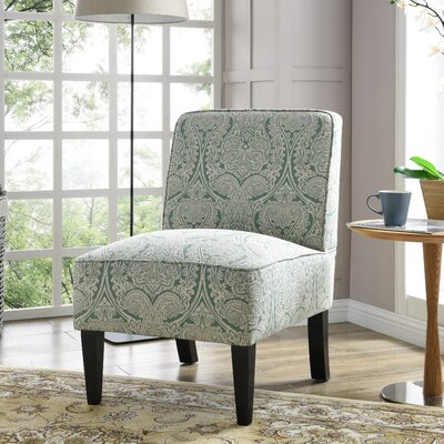 Burling Slipper Chair Upholstery: Paisley Mint