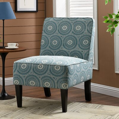 Burling Slipper Chair Upholstery: Medallion Aqua