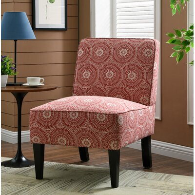 Burling Slipper Chair Upholstery: Medallion Ruby