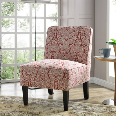 Burling Slipper Chair Upholstery: Paisley Ruby
