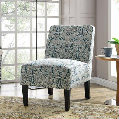 Burling Slipper Chair Upholstery: Paisley Blue