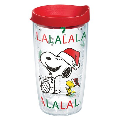 Peanuts Christmas Snoopy Santa 16 oz. Plastic Travel Tumbler 1269599