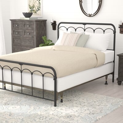 Calana Black Speckle Open-Frame Headboard and Footboard Size: Queen