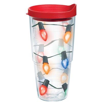 Christmas Lights 24 oz. Plastic Travel Tumbler 1126961