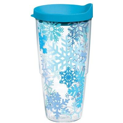 Snowflake 24 oz. Plastic Travel Tumbler 1162359