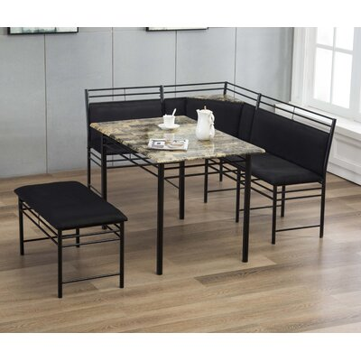 Tyrell 3 Piece Breakfast Nook Dining Set