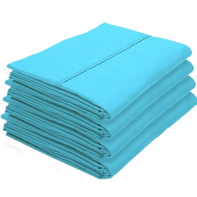 Rettig Pillowcase Color: Aqua, Size: Standard