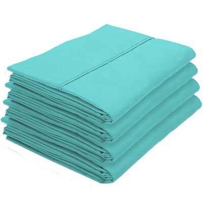 Rettig Pillowcase Color: Turquoise, Size: King