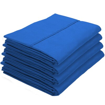 Rettig Pillowcase Color: Medium Blue, Size: King