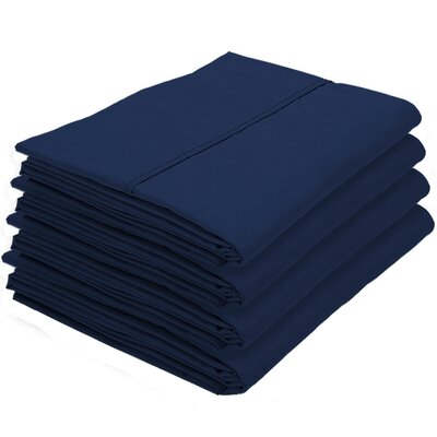 Gaitan Hypoallergenic Pillowcase Color: Dark Blue