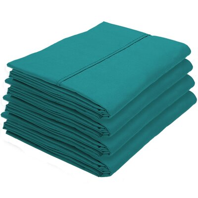 Rettig Pillowcase Color: Emerald, Size: King